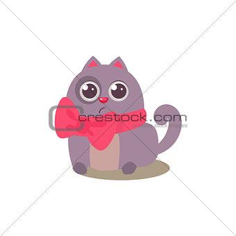 Cat In Bow