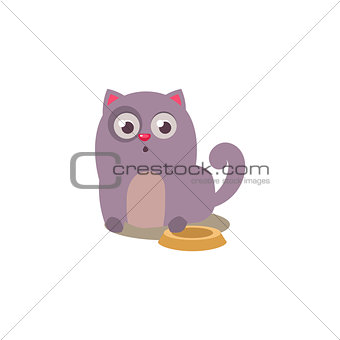 Cat With Empty Plate
