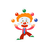 Clown Juggling Simplified Isolated