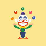 Joyful Clown Juggling