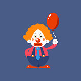 Sad Clown Holding Balloon