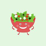 Humanized Salad Funny Illustration