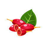 Goji Berry Flat Vector Sticker