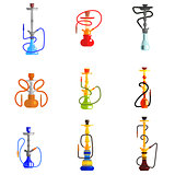 Hookah Vector Icons Illustration.