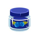 Blueberry Jam  In Transparent Jar