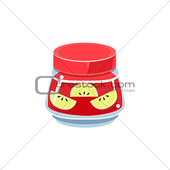 Apple Jam In Transparent Jar