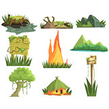 Jungle Landscape Elements