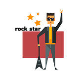 Rock Star Abstract Figure