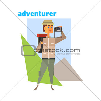 Adventurer Abstract Figure