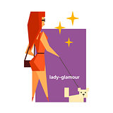 Glamorous Lady Abstract Figure