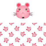 Mouse Head Icon And Pattern