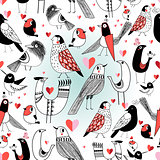 Graphic pattern in love birds