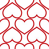seamless red hearts