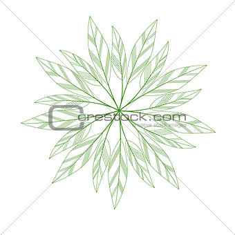 green leaves mandala