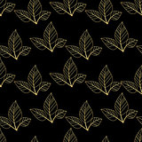 gold leaves seamless