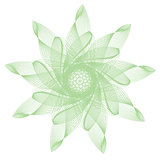 green abstract mandala