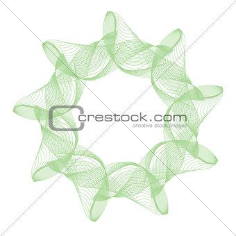 green abstract mandala
