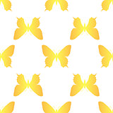 golden butterfly seamless