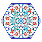 Antique ottoman turkish pattern vector design eighty eight