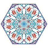Antique ottoman turkish pattern vector design eighty eight