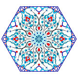 Antique ottoman turkish pattern vector design eighty five