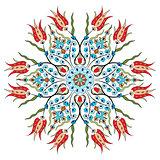 Antique ottoman turkish pattern vector design eighty nine