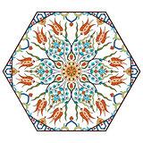 Antique ottoman turkish pattern vector design eighty seven