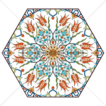Antique ottoman turkish pattern vector design eighty seven