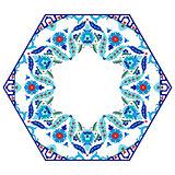 Antique ottoman turkish pattern vector design eighty six