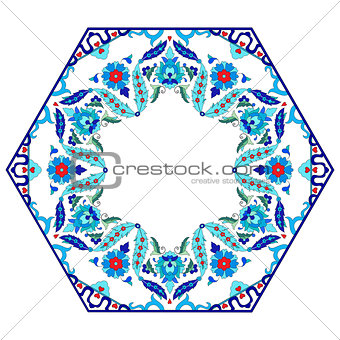 Antique ottoman turkish pattern vector design eighty six