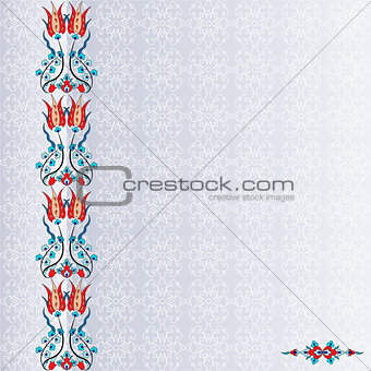 Antique ottoman turkish pattern vector design ninety four
