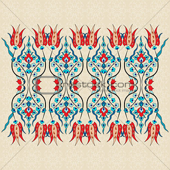 Antique ottoman turkish pattern vector design ninety one