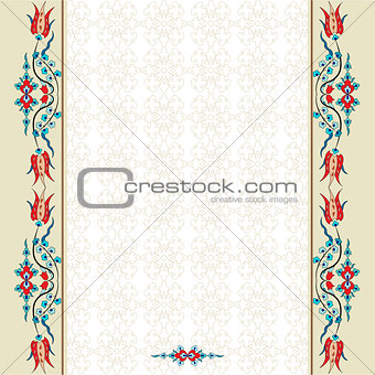 Antique ottoman turkish pattern vector design ninety three