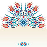 Antique ottoman turkish pattern vector design ninety