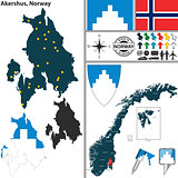 Map of Akershus, Norway