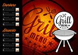 Design BBQ menu