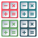 Icons Calculator, vector illustration.