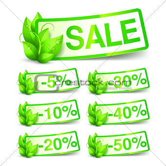 Green Nature Sale Tags