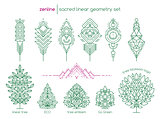 Vector linear abstract emblems