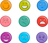 cartoon emoticons faces set
