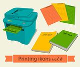 Print icons set8.