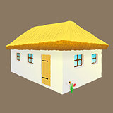 vector illustration of Ukrainian hut image
