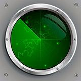 green radar screen