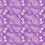 Seamless pattern of hourglass and gears