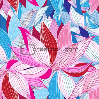 Beautiful lotus flower pattern