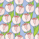 Floral seamless pattern Tulips