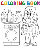Coloring book laundry theme 1