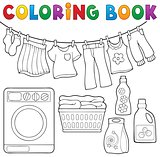 Coloring book laundry theme 2