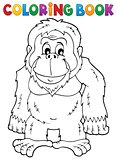 Coloring book orangutan theme 1