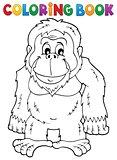 Coloring book orangutan theme 1